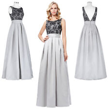 Vintage Lace Evening Formal Mother of the Bride Party Prom Gown Ball Long Dress