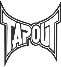 TAPOUT UFC MMA Car Decal Laptop Sticker MMA