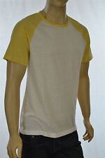 GAP Men's Short Sleeves Off White with Yellow Sleeves T-shirt New w/ tags $24.99