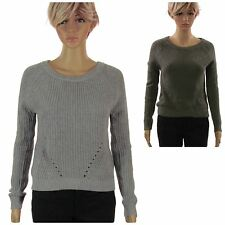Gap Women's Army Green or Grey Long Sleeve Knit Crop Sweater New with Tags