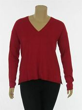Lane Bryant Women's Red Long Sleeve V Neck Plus Size Sweater New with Tags