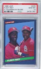1986 Leaf Canadian #225 Willie McGee Vince Coleman PSA 10 St. Louis Cardinals