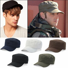 Men Women Cap Adjustable Army Plain Hat Cadet Military Cadet Sport Baseball Cap