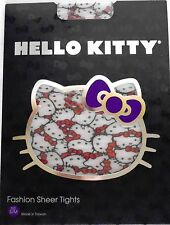 HELLO KITTY – TIGHTS – HELLO KITTY FACES with RED BOWS – LADIES S/M or M/L – NIP