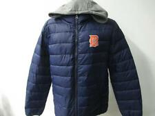 Tigers Mens M XL Full Zip Embroidered Quilted Jacket w/ Removeable Hood DTI 25