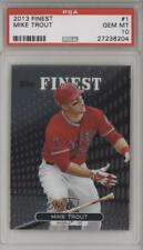 2013 Topps Finest #1 Mike Trout PSA 10 Los Angeles Angels Baseball Card