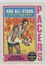 1974-75 Topps #220 George McGinnis Indiana Pacers Basketball Card