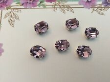 Swarovski Vintage Oval Sew ons 10x8mm Pack of 6 CRAFT DESIGN Post Free