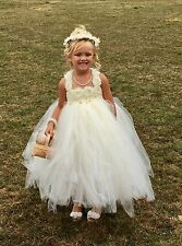 Stunning Ivory Flower Girl Dress with Lots of Tulle Size 4