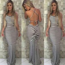 Women's Bodycon Long Maxi Dress Summer Casual Evening Cocktail Party Sun Beach