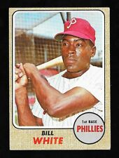 * 1968 * Phillies *  Bill White  #190 *  EX++/NrMINT!  NO CREASES!  LOW SHIPPING