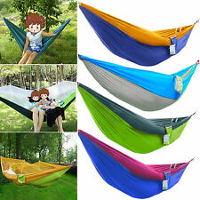 Portable Cotton Rope Outdoor Swing Fabric Camping Hanging Hammock Sleeping Bed