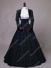 Civil War Victorian 3PC Tartan Suit Dress Theater Gown Reenactment Costume 187