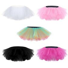 Adult Women Teen Girls 5 Layers Tulle Tutu Skirt Pettiskirt Ballet Dancewear New