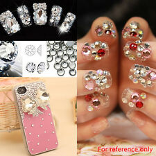 Fashion Shining Nail Art Tips Glitter Crystal Rhinestone DIY Decoration