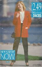 See & Sew Pattern 5620 Misses' Jacket, Top and Pants 12, 14, 16   Only $4.97