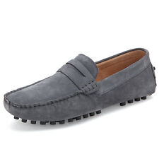 Mens Casual Genuine Leather Slip On Loafers Shoes Moccasin Driving Antiskid Shoe