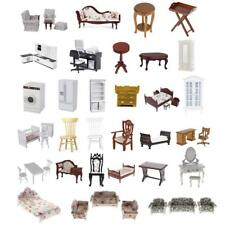 1:12 Dollhouse Miniatures Living Room/Bedroom/Kitchen Furniture Set Accessories