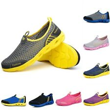 Summer Men Casual Shoes Breathable Mesh Trainers Flat Footwear Sea Water Sand