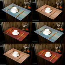 Set of 6 Placemats Stripe Bowl Kitchen Dining Room Pad Western Bar Table Mats