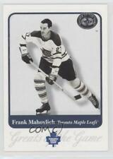 2001 Fleer Greats of the Game 55 Frank Mahovlich Toronto Maple Leafs Hockey Card