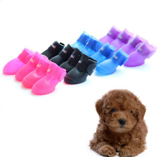 Candy Colors Puppy Dog Boots Waterproof Protective Rubber Pet Rain Shoes Booties