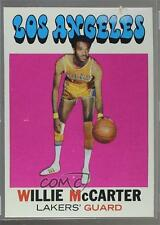 1971-72 Topps #101 Willie McCarter Los Angeles Lakers Basketball Card