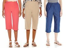 Alfred Dunner Womens Capris Classics Pull On Solid size 8 10 18 16P 16W NEW