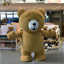 New 2017Reenactment Theater Inflatable Plush Bear Mascot Costume Adult Size GIft