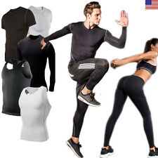 Mens Compression T Shirt Base Layer Sports Under Wear Running Tights Skin Pants