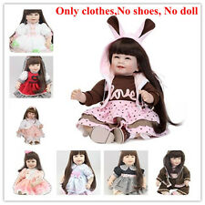 """20''- 22"""" Reborn Baby's Clothing Clothes For Girl Doll, NOT Included Doll &Shoes"""