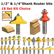 1/4'' 1/2'' Shank Router Bit Ogee Cutter Set Cabinet Wood For Woodworking Tool