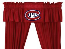 Montreal Canadiens Window Treatments Valance and Drapes