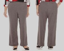 Alfred Dunner Womens Plus Pants Madrid Pull On Grey sizes 18W 20W NEW