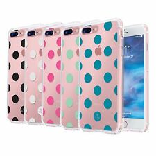 Polka Dot Printed on Clear Slim Protective Durable Case Cover Hard Soft Bumper