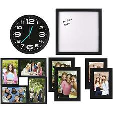 7 Piece Back To College Frame and Clock Room Decor Solution Set