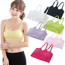 Women's Casual Sports Vest Yoga Bra Soft Y-Shape Strap Crop Tops Underwear Witty