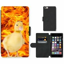 Phone Card Slot PU Leather Wallet Case For Apple iPhone ducklings blaze