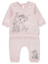 George Official Disney Baby Girl Bambi Embroidered Sweatshirt & Joggers Outfit S