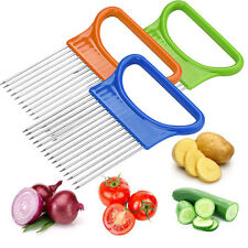1pc Tomato Onion Vegetables Slicer Cutting Aid Holder Guide Slicing Cutter Safe