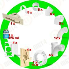 New Central Vacuum Almond 4-Inlet Installation Kit and Almond Vacpan