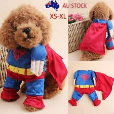 Dog Coat Pet Clothes Puppy Jacket Warm Winter Cat Apparel Costume Superman AU