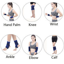 Pair Of Elastic Knee Palm Wrist Calf Ankle Elbow Support Brace Gym Sport Bandage