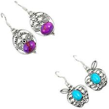 Jewelexi copper turquoise 925 sterling silver earrings handmade jewelry 5630A