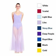 Body Wrappers Long Full Chiffon Light Flowing Dance Skirt