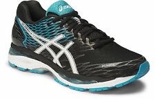 NIB Asics Mens Gel-Nimbus 18 Running Shoes T600N 9001 Black/White/Island Blue