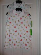 SleevelessTropical Print Golf Polo Shirts NEW BY Allyson Whitmore Golf  PL