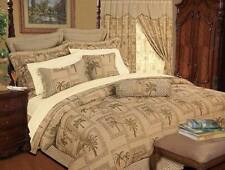 Tropical Palm Tree Tapestry 9P Queen or King Size Comforter+Pillows Bedding Set