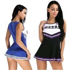 Womens High School Musical Cheer Girl Cheerleader Fancy Dress Up Uniform Costume