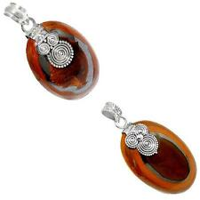 Jewelexi tiger's hawks eye 925 sterling silver pendant handmade jewelry 6550A